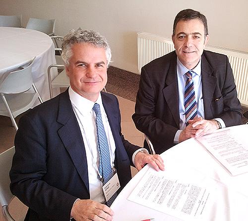 Sr. Gianluca Spina (MIP Politécnico de Milano) y Miquel Espinosa (EADA)