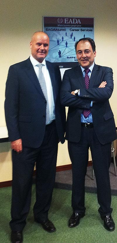 Juan Carlos Serra, Director del Master, y Luis Mora, conferenciante