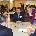 Asistentes en pleno caso práctico a la Jornada de Puertas Abiertas celebrada el 8 de febrero de 2013