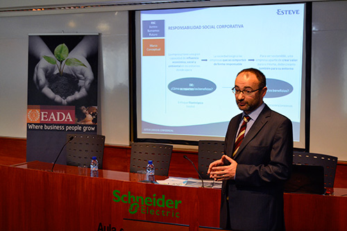 Daniel Ortiz, Director de RSC de Esteve, en EADA