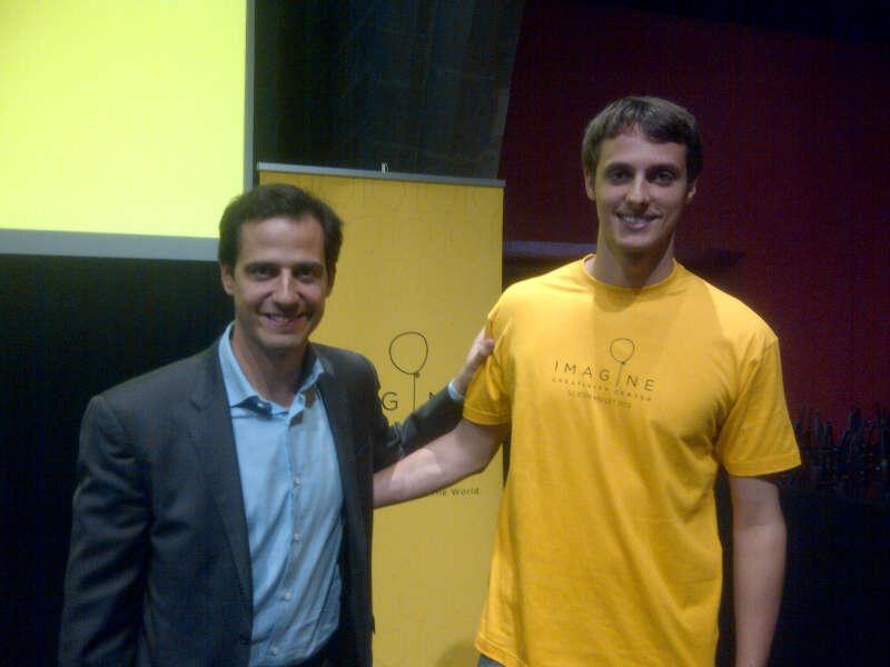 Jordi Díaz (EADA) y Albert Morro, alumno de EADA, irá a Imagine Silicon Valley 2013