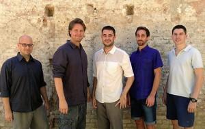 De izquierda a derecha: Nimrod Friedman, director creativo; Viktor Nordstrom CEO y cofundador; Daniel Iborra, CTO y cofundador; Luca Vidotto, exalumno de EADA y Online Marketing Manager y Lluís Fons, ingeniero senior.