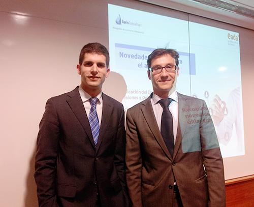 Xavier Tapias y Ricard Garcia, profesor del Master en Fiscalidad de EADA