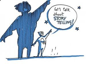 Una de las viñetas que dibujó Montecarlo para su presentación