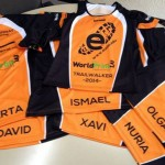 Camisetas con los nombres de los participantes de EADA en la Trailwalker de Girona