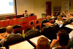 Giorgia Miotto, directora de Relaciones externas y Comunicación de EADA, incidió en la necesidad de  mejorar la reputación de marca en el actual contexto de