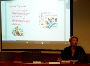 Clara Puigventós, directora general de Encís, explicó las múltiples actividades en familia que incluye