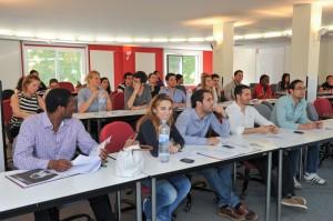 Una de las aulas de Collbató con un elevado número de perfiles internacionales.
