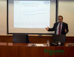 Ernest Poveda, director de ICSA Grupo, durante lla presentación del informe.