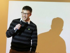 In the picture, Tibor during an investor pitch in Copenhagen few months ago.