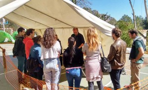 The EADA's participants built up a refugee camp in Collbató in order to simulate the complex settings and contexts in humanitarian crisis.