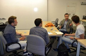 the current International Master in Management participants had the chance to ask the speakers for advice in order to run their own business.