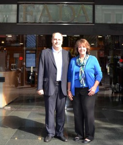 In the picture above, Shelley is near Franc Ponti, EADA's Global Innovation Management Center professor.