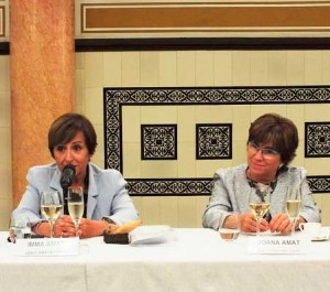 Imma (izquierda) y Joana Amat en el encuentro anual de la Fundació Factor Humà.