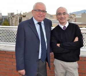 Los profesores de Finanzas de EADA Rafael Sambola (izquierda) y Jordi Carenys son los coordinadores de la primera edición del Be Fnance Day de EADA.