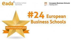 EADA se consolida entre las 25 mejores escuelas de negocios europeas, según el prestigioso ranking del Financial Times.