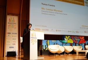 El evento también contó con la intervención de Lamiya Morshed, directora ejecutiva del Yunus Centre.