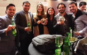 Ana María junto a los compañeros de Central Cervecera de Colombia con los que lanzó la campaña publicitaria 'Move the Lunch' y que les hizo ganar dos Premios Cannes Lions.
