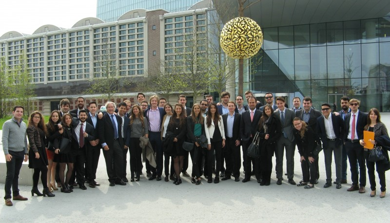 Master in Finance participants. International Week in Frankfurt