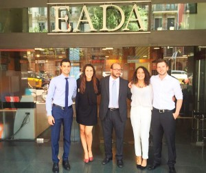 From left to right, the International Master in Management participants are: Marco, Tatiana, Mostafa, Elif and Chris.