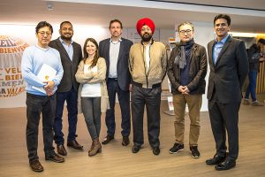 In the photo taken we can see Singh alongside with the other professors who participated in the EADA's International Week.