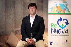 Borja Lafuente en la presentación del proyecto de economía circular ReNueva de Danone para fomentar el reciclaje.