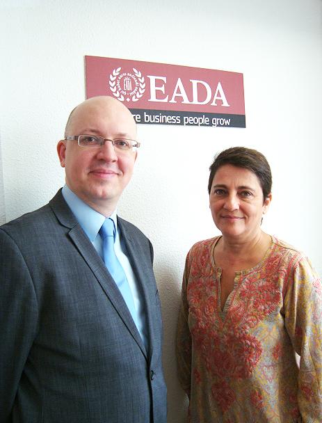 Lucía Langa y Seteven Poelmans, de EADA