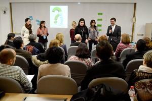 Un momento de un taller en el que varias personas expusieron sus retos y cómo afrontarlos