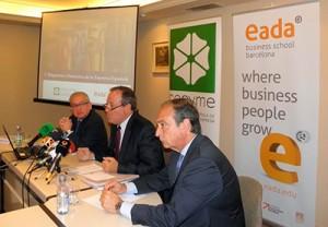 Imagen de la rueda de prensa de esta mañana en la sede de CEPYME, donde se ha presentado el 'V Diagnóstico Financiero de la Empresa Española'.