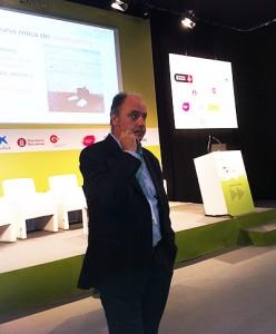 Franc Ponti en un momento de la conferencia que impartió el 5 de junio en BizBarcelona