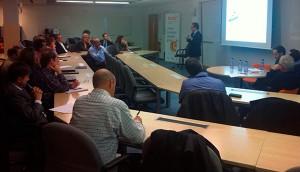 Antoni Vallès, director comercial del Institut Català de Finances , explicó los principales instrumentos financieros que ofrece esta institución.