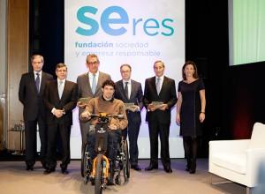 Los galardonados en la sexta edición de los premios de la Fundación Seres.