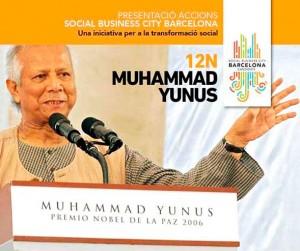 El profesor Muhammad Yunus presentará el próximo 26 de enero en Barcelona el Yunus Social Business Centre de Barcelona, un centro que fomentará la creación de empresas sociales desde el mundo académico.