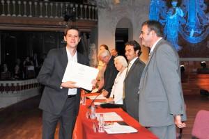 Imagen correspondiente al acto de inauguración del año académico 2011-12 de EADA, cuando Jordi recogió el diploma del Master Ejecutivo en Dirección de Marketing.