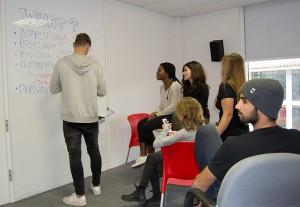 Los participantes de los masters internacionales realizaron en noviembre en el Centro Residencial de Collbató un módulo específico de 'communication skills'.