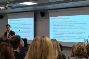 Jordi Díaz, director de Programas y de Relaciones Institucionales de EADA, durante su ponencia en la 'EFMD Conference on Master Programmes' celebrada en Oslo en noviembre.
