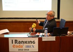 Rafael Sambola durante la presentación del I Ranking EADA IBEX 2015-16.