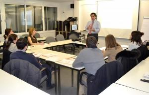 Ricard Masip durante el taller sobre competencias y roles del HR-Business Partner.